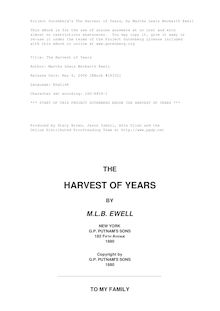 The Harvest of Years