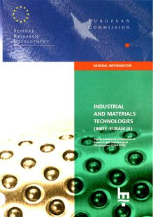 INDUSTRIAL AND MATERIALS TECHNOLOGIES (BRITE - EURAM III). Fourth framework programme of Research and Technological Development (1994-1998)
