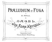 Partition complète, Prelude et Fugue, Op.8, Prelude and Fugue in E minor for Organ