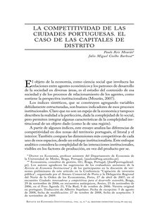 La competitividad de las ciudades portuguesas. El caso de las capitales de distrito (The Competitiveness of Portuguese Towns. The Case of District Capital Towns)