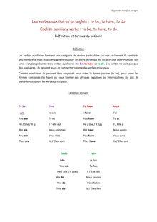 Les verbes auxiliaires - Apprendre l'anglais en ligne