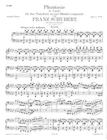 Partition complète, Fantasie, D.940 (Op.103), f minor, Schubert, Franz par Franz Schubert