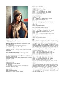 EYELET HAT AND SCARF MATERIALS: Rowan Pure Wool Aran x 4 ...