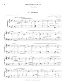 Partition 6, Élévation (E major) - 6, Verset (B-flat major), L'Office Catholique, Op.148