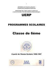 Programme Educatif Madagascar 6ème