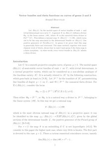 Vector bundles and theta functions on curves of genus and