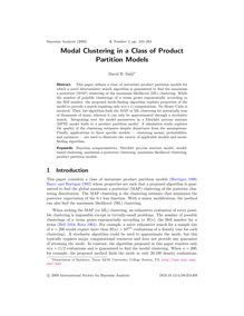 Modal Clustering in a Class of Product Partition Models