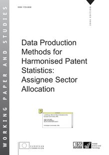 Data production methods for harmonised patent statistics