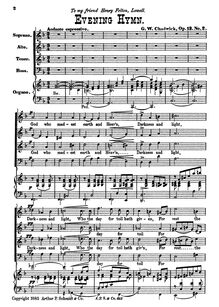 Partition No.2: God Who Madest Earth et Heaven (Evening Prayer), 3 sacré quatuors, Op.13
