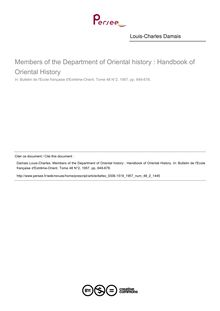 Members of the Department of Oriental history : Handbook of Oriental History - article ; n°2 ; vol.48, pg 649-678