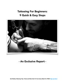 Tattooing For Beginners - 9 Quick Steps
