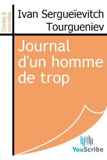 Journal d'un homme de trop de Ivan Sergueïevitch Tourgueniev - fiche descriptive
