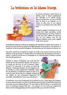 Le brahmane et la déesse Durga