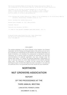 Northern Nut Growers Association, Report of the Proceedings at the Third Annual Meeting - Lancaster, Pennsylvania, December 18 and 19, 1912