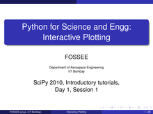 Python for Science and Engg: Interactive Plotting