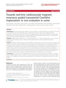 Towards real-time cardiovascular magnetic resonance guided transarterial CoreValve implantation: in vivo evaluation in swine