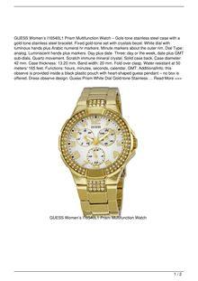 GUESS Women8217s I16540L1 Prism Multifunction Watch Watch Reviews