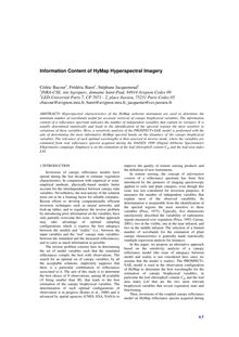 Information Content of HyMap Hyperspectral Imagery