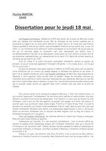 Dissertation sur les fausses confidences de Marivaux