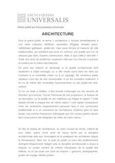 Définition de : ARCHITECTURE - Antoine PICON