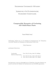 Compressible dynamics of cavitating 3-D multi-phase flows [Elektronische Ressource] / İsmail Hakkı Sezal