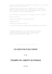 Celebration in Baltimore of the Triumph of Liberty in France