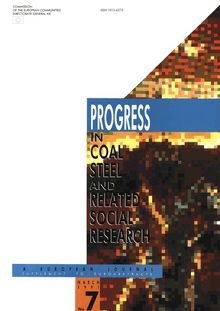Progress in coal, steel and related social research. European Journal No 7 1991