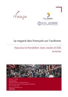 """Autisme : étude de l'IFOP pour SOS autisme """"Le regard des français sur l'autisme"""""""