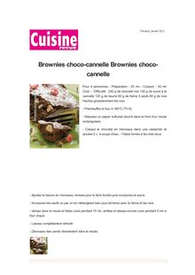Brownies choco-cannelle Brownies choco-cannelle