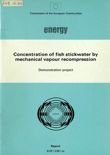 Concentration of fish stickwater by mechanical vapour recompression