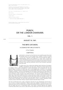 Punch, or the London Charivari, Volume 1, August 14, 1841
