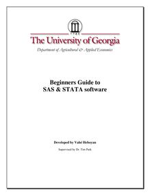 SAS and STATA Software Tutorial