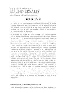 Définition et synonyme de : RÉPUBLIQUE - Jean-Claude BUSSIÈRE