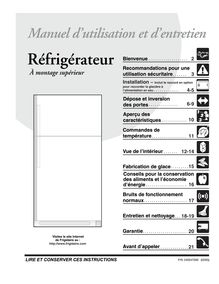 Notice Réfrigérateur Frigidaire  FRT21IS6BB2