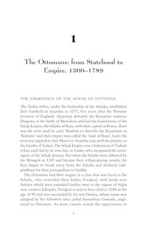 The Ottomans: from Statehood to Empire, 1300–1789