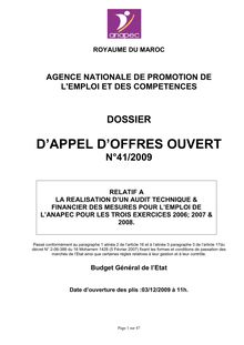 AO Audit technique et financier
