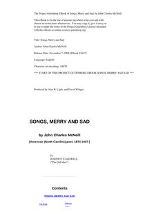 Songs, Merry and Sad