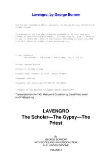 Lavengro - The Scholar - The Gypsy - The Priest, Vol. 2 (of 2)