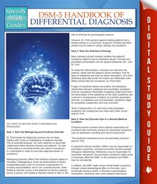 DSM-5 Handbook Of Differential Diagnosis (Speedy Study Guides)