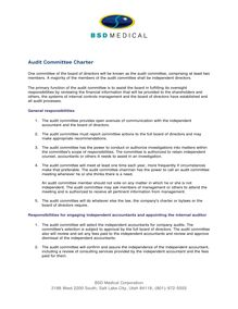 Audit Committee Charter  BSD Medical Corporation  Salt Lake City,  Utah