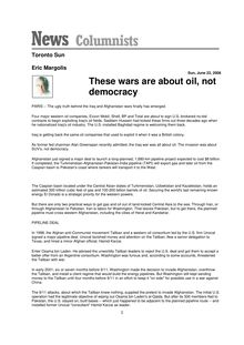 These wars are about oil not democracy