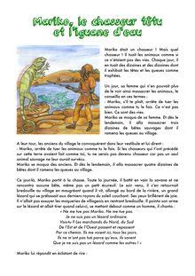 Mariko le chasseur têtu et l'iguane d'eau
