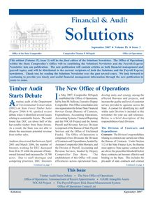 Financial & Audit Solutions, September 2007