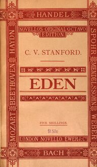 Partition Cover Page (color), Eden, A Dramatic Oratorio in Three Acts