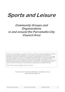 Sports and Leisure