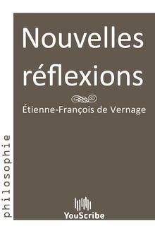 Nouvelles réflexions de Étienne-François de Vernage - fiche descriptive