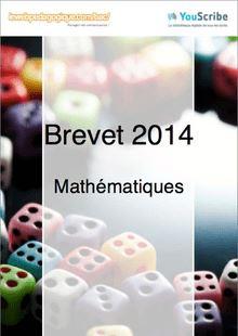 Corrigé brevet 2014 - Mathématiques