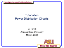 EPNES Tutorial on Power Dist Systems GTH