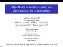 J domination Conception et Analyse domination I