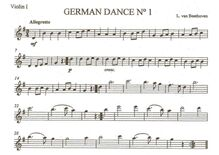 Partition parties complètes, 12 German Dances, Dances for Orchestra